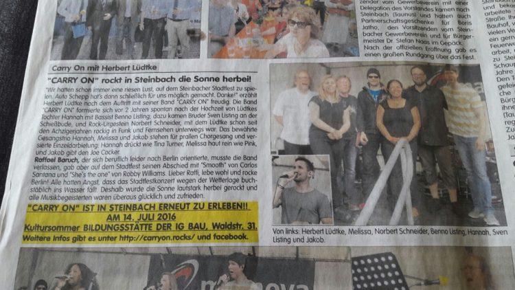 Steinbacher Information Juni 2016