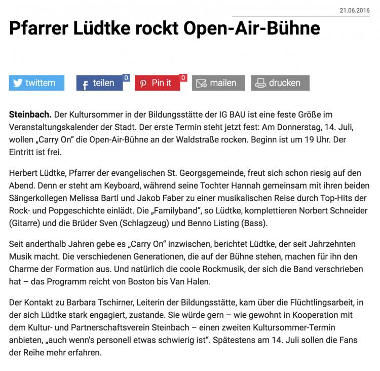 Taunus Zeitung vom 21.6.2016